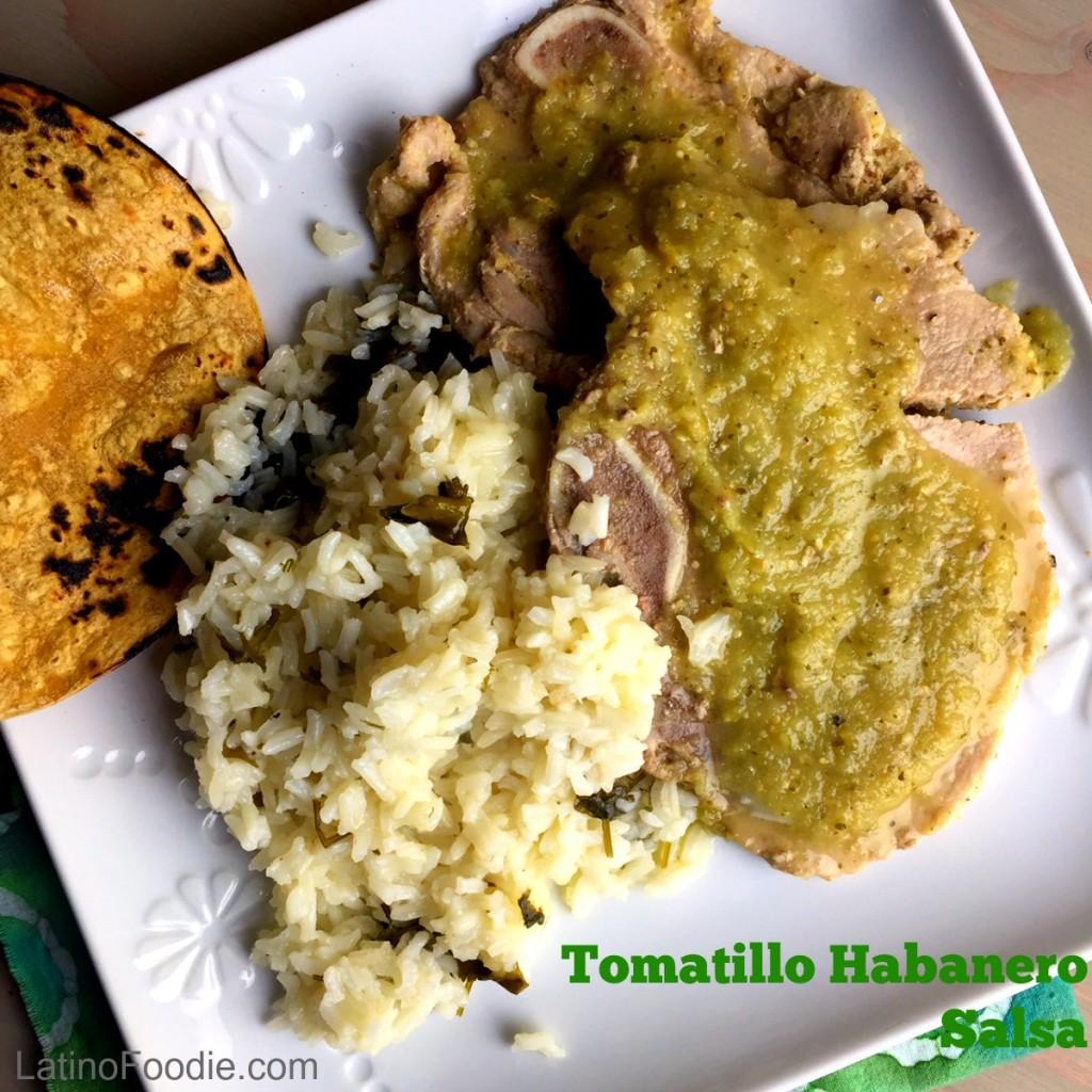 Final Tomatillo Habanero Salsa plate