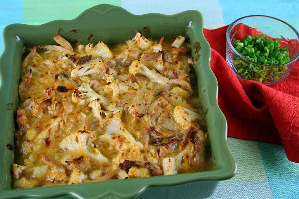 Salsa Verde Cauliflower Chicken Casserole  LatinoFoodie.com