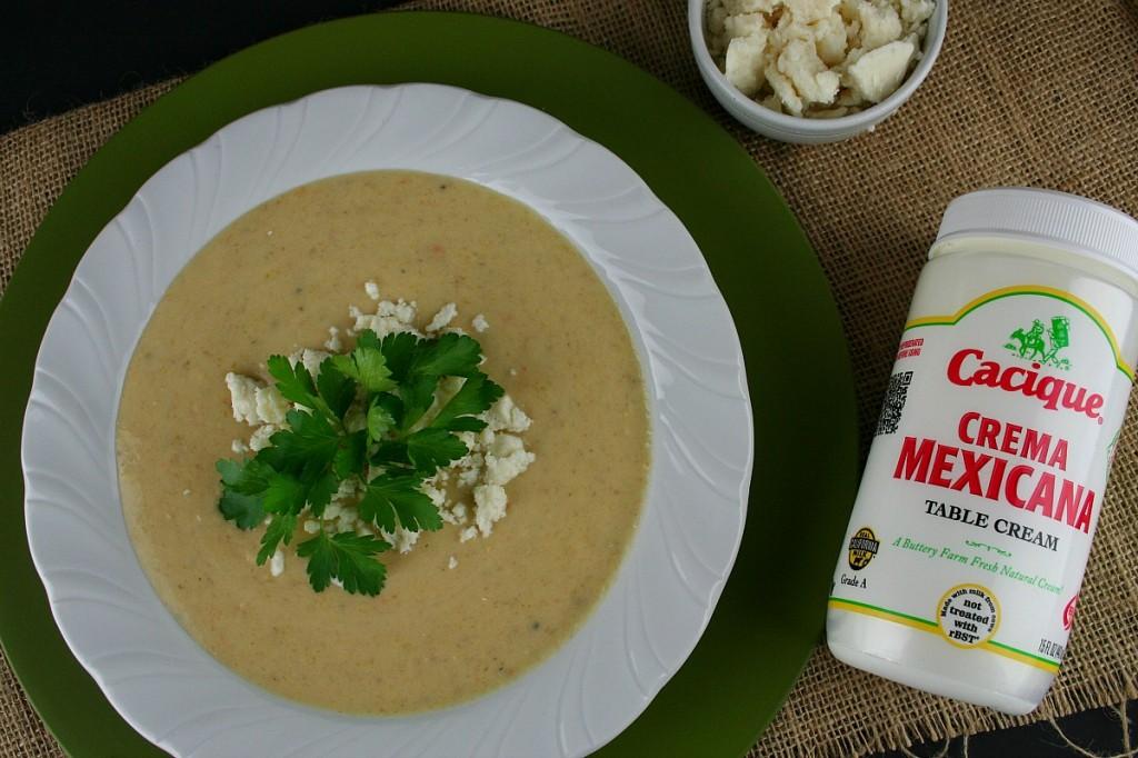 Cacique Creamy Plantain Soup | LatinoFoodie.com