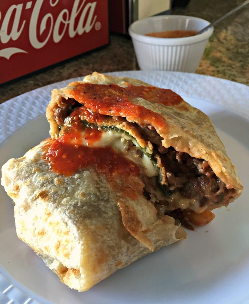 Chile Relleno Carne Asada Burrito at La Azteca