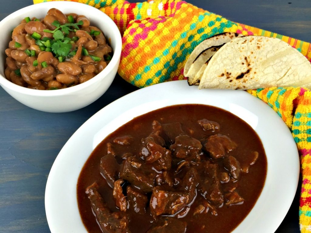 Frijoles with Chile Colorado