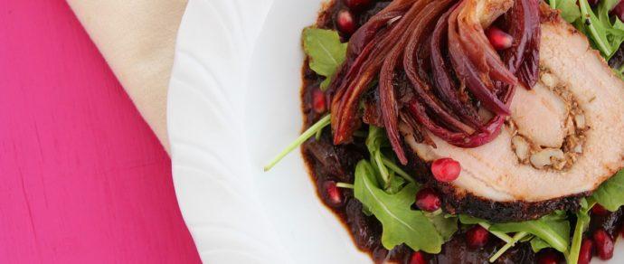 Valentine's Dinner: Ancho-Pomegranate Roasted Pork Loin