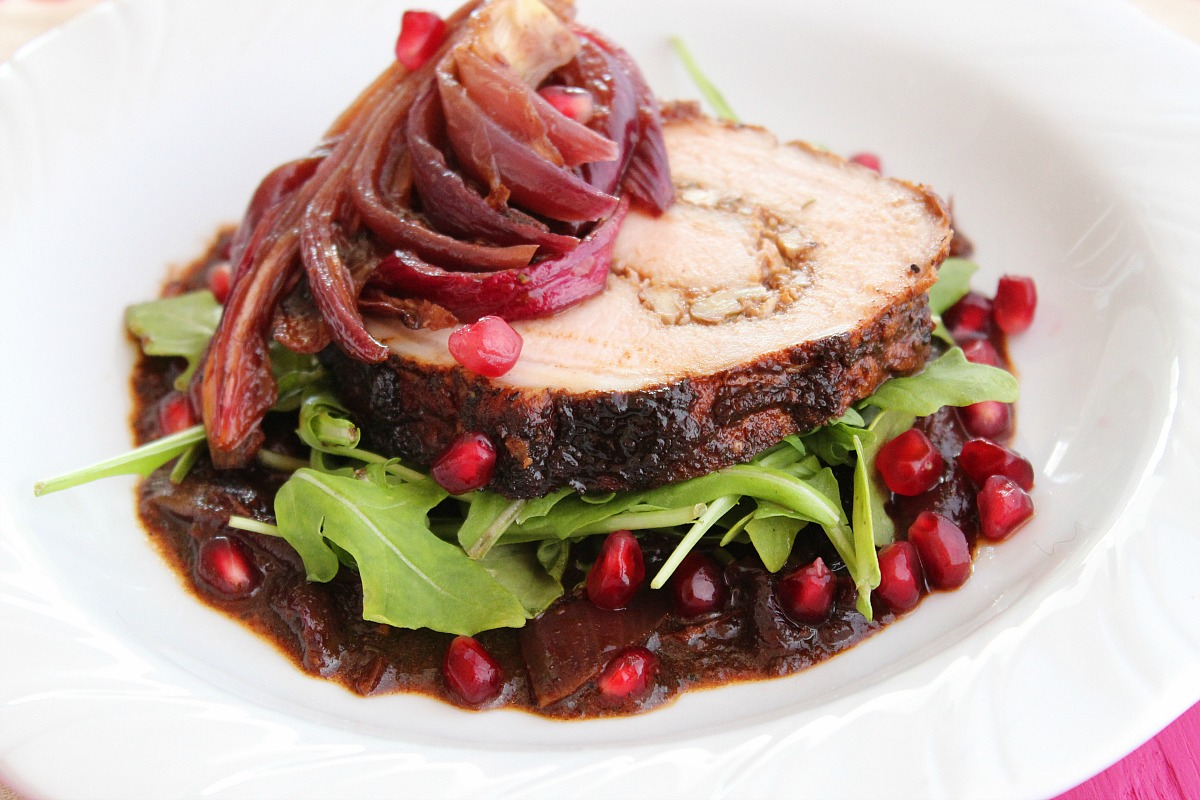 ... Dinner: Ancho-Pomegranate Roasted Pork Loin - Latino Foodie