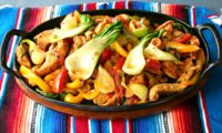 CHICKEN FAJITAS WITH A TWIST — Baby Bok Choy Adds Flavor & Nutrients