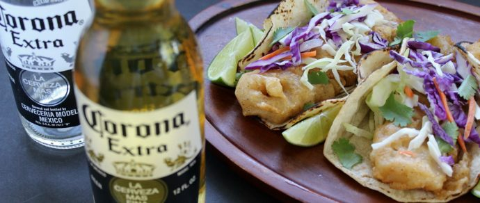 BAJA-STYLE BEER BATTERED FISH TACOS
