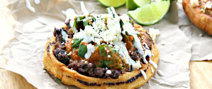 SOPES WITH CHICKEN TINGA AND BABY BOK CHOY
