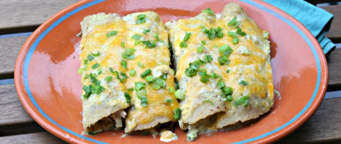Hatch Enchiladas Suizas with Chicken