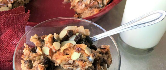 Raisin Coconut Bread Pudding Recipe