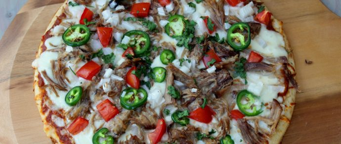 CARNITAS PIZZA RECIPE WITH A SPICY CHIPOTLE MARINARA SAUCE