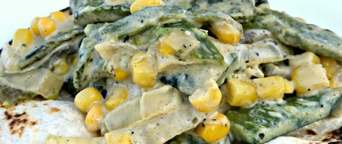 RAJAS CON CREMA — Creamy and Delicious