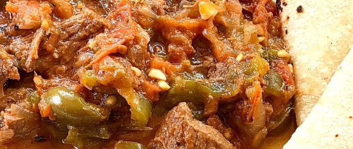 HOW TO MAKE STEAK PICADO WITH HATCH CHILE
