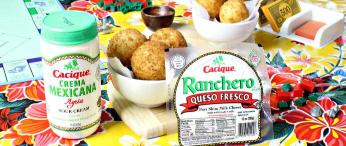 Papas Rellenas Stuffed with Cacique Queso Fresco and Beef Chorizo