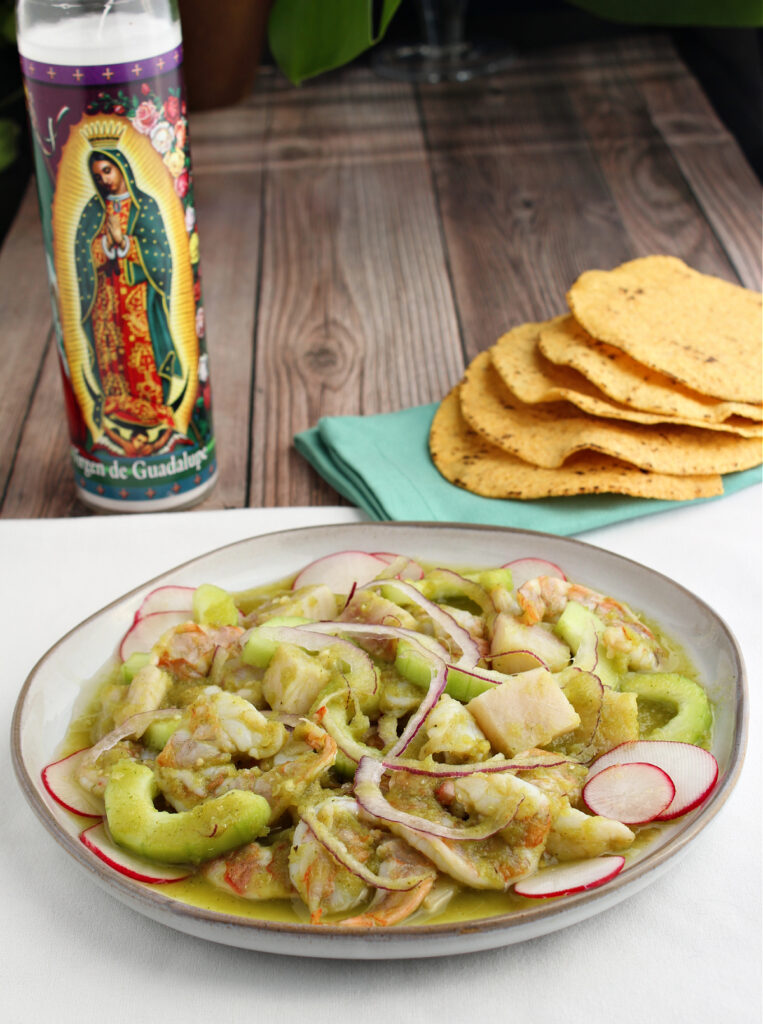 Shrimp and Tilapia Ceviche in a Verde Sauce